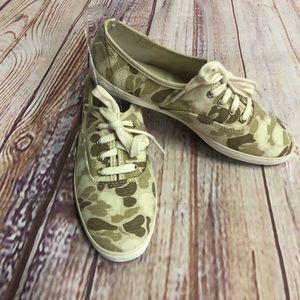 Keds Camo canvas lace up shoes